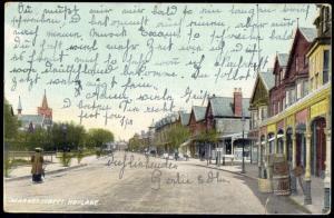 cheshire, HOYLAKE, Market Street (1909) Lewis's Series