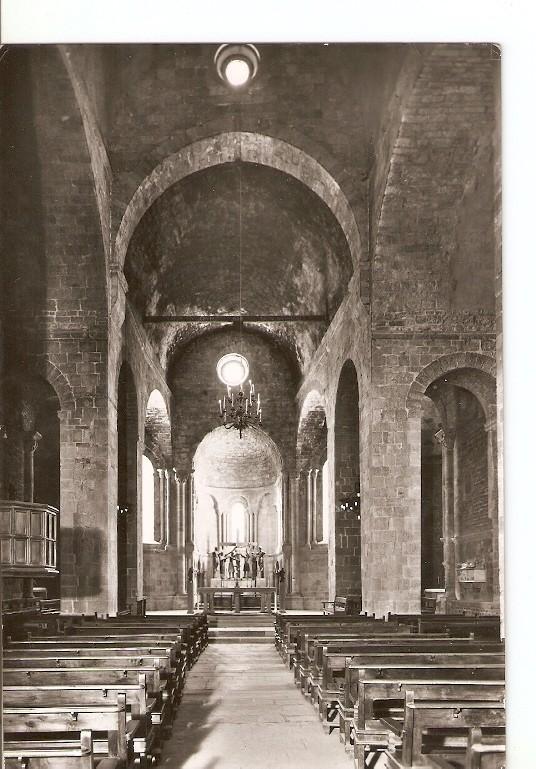Postal 021836 : Nave Central y Altar Mayor. San Juan de las Abadesas