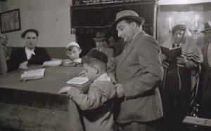 1950s Hebrew School Cracow Poland Bible Class Photo Postcard