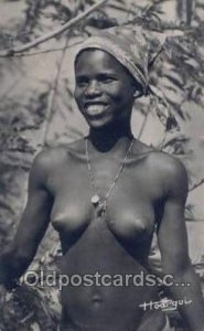 African Nude 1957 postal marking on back unknown