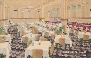 Florida Jacksonville Jenk's Restaurant Interior1939 Curteich sk5781