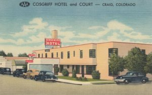 CRAIG , Colorado , 1930-40s ; Cosgriff Hotel & Court