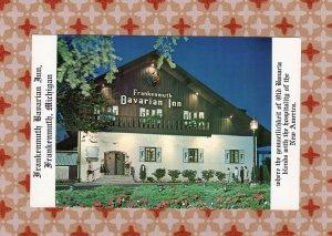 Bavarian Inn Postcard Frankenmuth Restaurant Historical Gift Shop Michigan