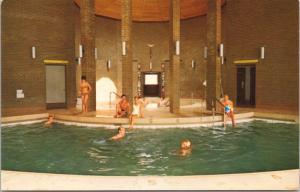 Harrison Hot Springs Hotel BC Health Pavilion Sulphur Pool Unused Postcard D64