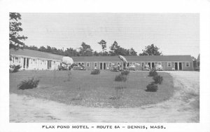 Flax Pond Motel Dennis, Massachusetts Postcard