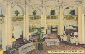 NEW HAVEN , Connecticut, 1930-40s; Lobby , Hotel Taft