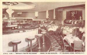 Buffalo New York~Theatre Restaurant~Phil Amigone's Chez Ami~Jack Grood~1940s B&W