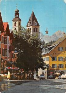 Luftkurort Kitzbuehel Vorderstadt gegen Wilden Kaiser Auto Cars Terrace