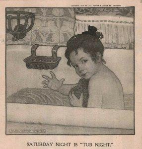 1907 Original Print Ad Ivory Soap Adorable Girl Bathtub Kuppenheimer 2P1-6 e et