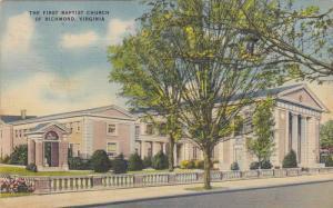 First Baptist Church , RICHMOND , Virginia , 1943
