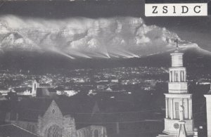 CAPE TOWN , South Africa , 1950s ; Panorama QSL Radio Postcard
