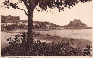 JERSEY, Channel Islands, UK, 1930-1950s; Mont Orgueil Castle, Gorey