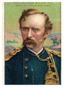 1983  General  Custer Royal Bengals Little Cigars MEN OF HISTORY Card