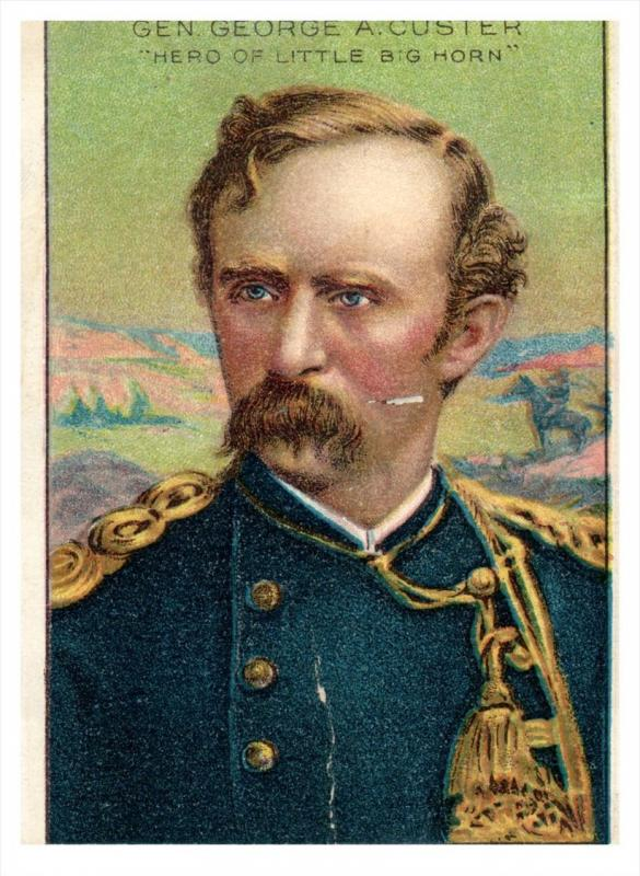 General  Custer Royal Bengals Little Cigars MEN OF HISTORY Card