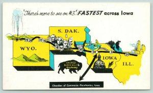 Pocahontas Iowa~Hwy #3~Black Hills~Airport~Park~Swimming Pool~Golf Course~Motel