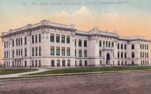 EVERETT, Washington, 1900-10s; High School, Cost of Construction $200,000