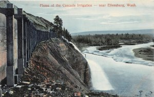 G33/ Ellensburg Washington Postcard c1910 Flume Cascade Irrigation