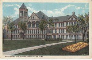 CEDAR RAPIDS, Iowa, 1900-10s; Washington High School