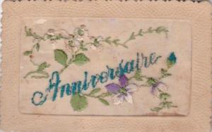 Anniversary With Embroidered Flowers