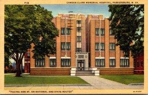 West Virginia Parkersburg Camden-Clark Memeorial Hospital 1956 Curteich
