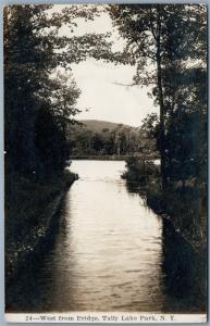 TULLY LAKE PARK NY 1913 ANTIQUE REAL PHOTO POSTCARD RPPC