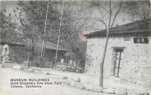 Coloma California~Gold Discovery Site State Park~Museum Bldgs~1940s B&W