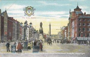 Ireland Dublin O'Connels Street & Bridge Showing O'Connels Monument sk4079