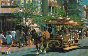 Florida Orlando Walt Disney World Trolley Ride Down Main Street U S A