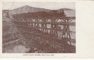 GOLD HILL , Nevada , 1900-10s ; Train on Crown Point Bridge
