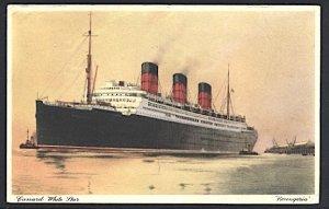 Cunard White Star RMS Berengaria Postcard