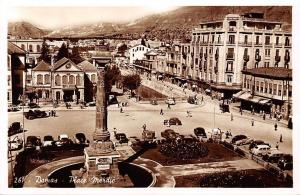 Syria Damas - Place Merdje, Damascus - square, auto cars real photo