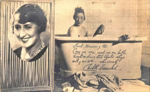 Charlotte Greenwood Actress and Vaudeville in 1928 RPPC Postcard