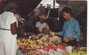 CURACAO; Floating Market, Dozens of schooners sail regularly from Venezuela, Fru