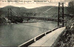 New York Bear Mountain Park Hudson River Bridge 1949 Albertype