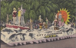 CLEARWATER - FUN 'N SUN FESTIVAL PARADE FLOAT 1950s / Festival discontinued