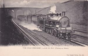 The Wild Irishman, L. & N. W. RLY. (Picking Up Water), Train, Bridge, 00-10s