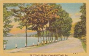 Pennsylvania Bowmanstown Greetings From Bowmanstown 1947