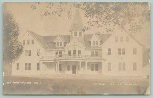 Danish Lutheran Elk Horn College Iowa~Opened 1910~1926~Turret~Sepia RPPC c1910