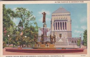 Indiana Indianapolis De Pew Fountain In University Park Curteich