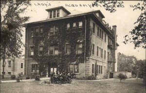 Manteno IL Our Lady's Academy c1910 Real Photo Postcard
