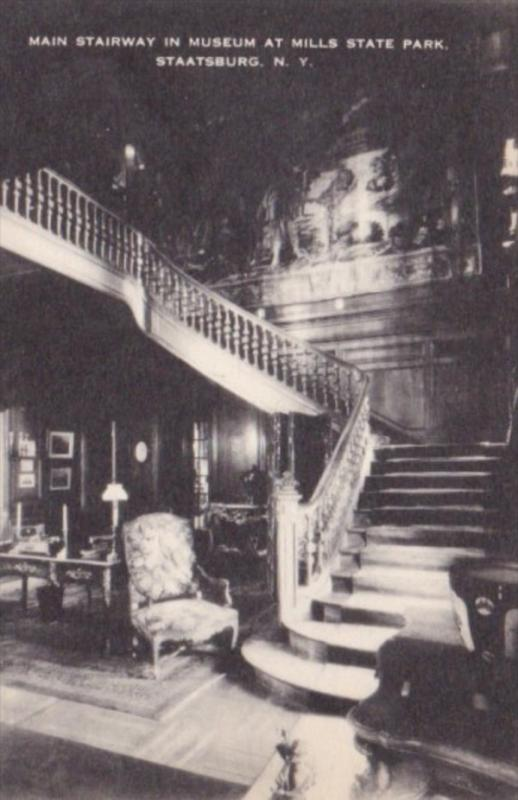 Main Stairway In Mills State Park Museum Staatsburg New York Artvue