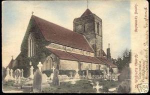 sussex HAYWARDS HEATH, St. Wilfred's Church 1905 Graves
