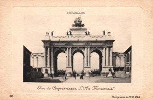 Parc du Cinquantenaire L'Arc Monumental,Brussels,Belgium BIN