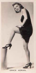 Grace Adrian Hollywood Actress Rare Real Photo Cigarette Card