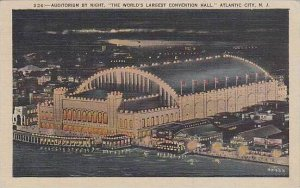 New Jersey Atlantic City Auditorium By Night The World Largest Convention Hall