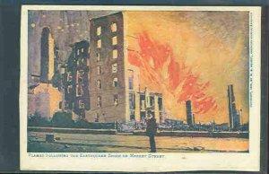 pc9230 postcard San Francisco Market Street in flames 1906 Hearst MOBSC