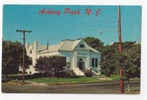 Asbury Park New Jersey Public Library First and Grand Avenue Vintage Postcard