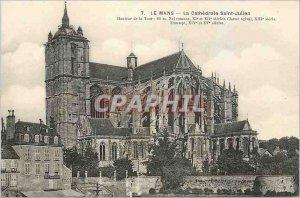 Old Postcard Le Mans Cathedral Saint Julien
