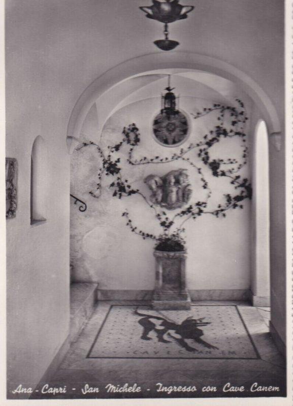 RP; ANA-CAPRI, Campania, Italy, 1930-1940s; San Michele, Ingresso Con Cave Canem
