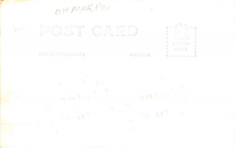 Marietta Ohio River Waterfront Real Photo Antique Postcard K60289